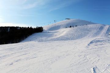 Winter snowy mountains. Donovaly ski resort - Slovakia