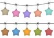 Hanging star labels