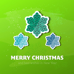 Christmas card with snowflakes, Xmas card