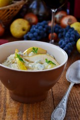 risotto with gorgonzola and  pears