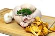 poulet et girolles