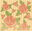 retro roses pastel background