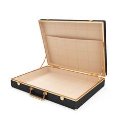 Empty Opened Suitcase isolated on white background