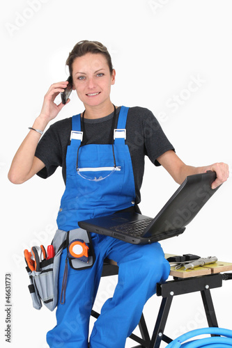 repair woman ready to take the job !