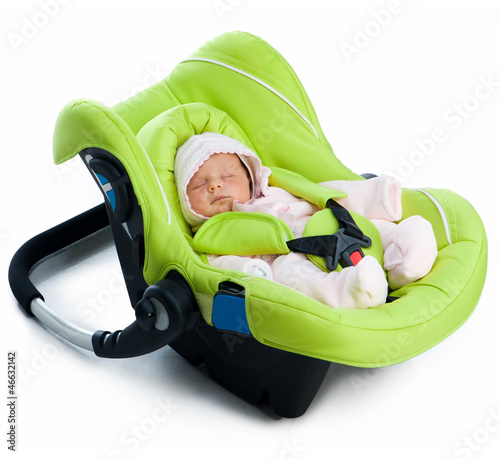 Newborn baby in a Car Seat