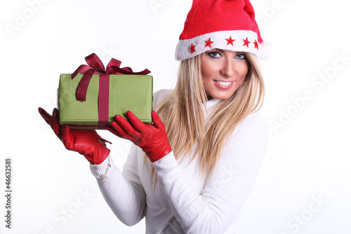 Beautiful christmas young woman