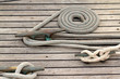 sailor knot and mooring rope