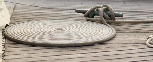twisted mooring rope