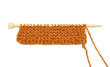Garter stitch knitting, isolated on a white background