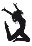 Fototapety Dancer silhouette on a white background