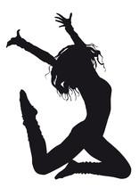Tancerz sylwetka na białym tle