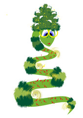веселая змея-елка