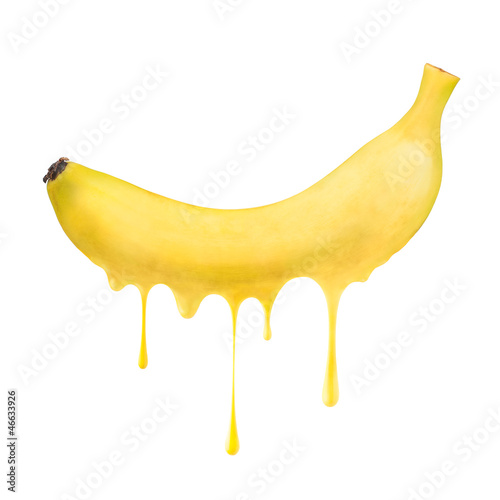 Melting and dripping banana