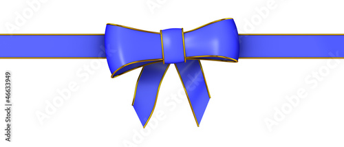3d Blue Christmas ribbon bow