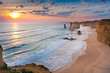 Fototapeten,sonnenuntergang,twelve apostles,australien,steilküste