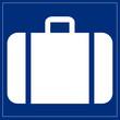 Schild blau - Gepäckabgabe