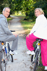 Biking for senior people