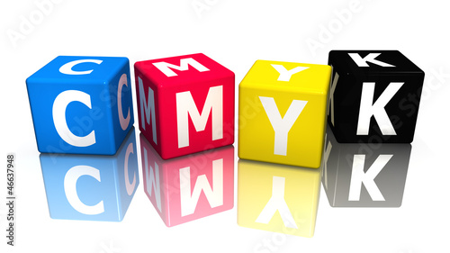 würfel cube cmyk 3D