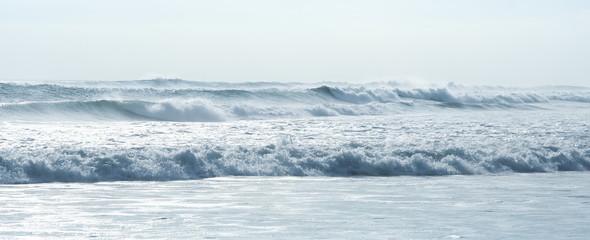 crashing waves kuta beach bali indonesia