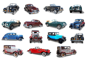 Collage. Retro the car