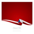 Abstract color background Czech flag vector