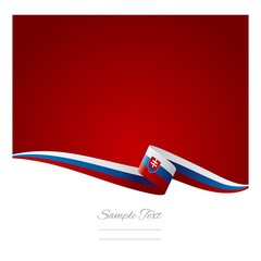 Slovak flag abstract color background vector