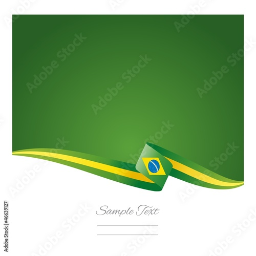 Abstract color background Brazilian flag vector