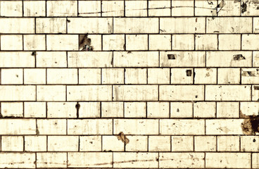 Dirty white brick wall background