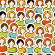 Diversity people pattern background