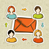 Email marketing campaign concept background poster