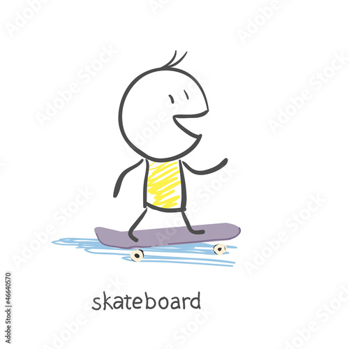 Man on skateboard