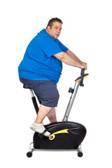 Fat Man in a Static Bicycle