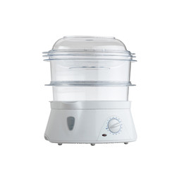 Electric steaming pot for kooing food isolated