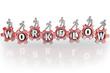 Workflow People on Gears Teamwork Workforce Working Together