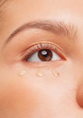 Closeup of woman eye