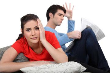 Couple having an argument.