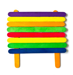 colorful wood ice-cream stick.