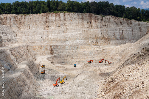 Stone quarry with excavate