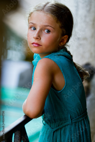 Portrait of lovely girl in old town - Venice, Italy