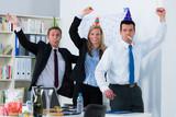 Fototapety geschäftsleute feiern ein jubiläum