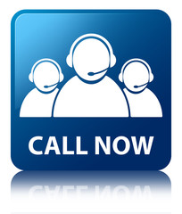 CALL NOW (Customer Care) Blue Square Button