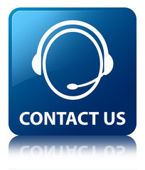 CONTACT US (Customer Service) Blue Square Button