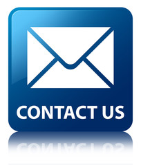 CONTACT US (Email Icon) Blue Square Button