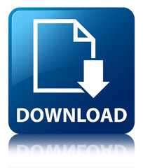 DOWNLOAD Blue Square Button