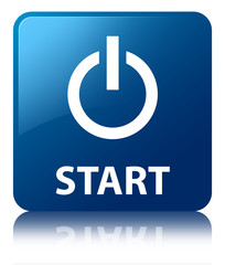 START (Power Icon) Blue Square Button