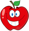 Apple Cartoon Mascot Character