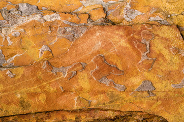 Orange Quartzite Rock