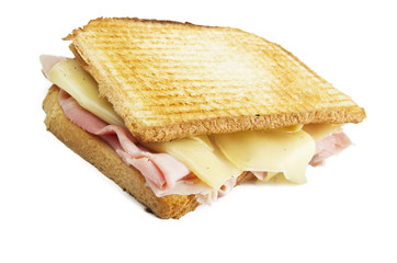 Big Toast Sliced with ham and cheese