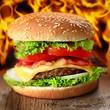 Cheeseburger rustikal