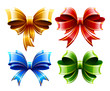 Vector set of beautiful gift bows.